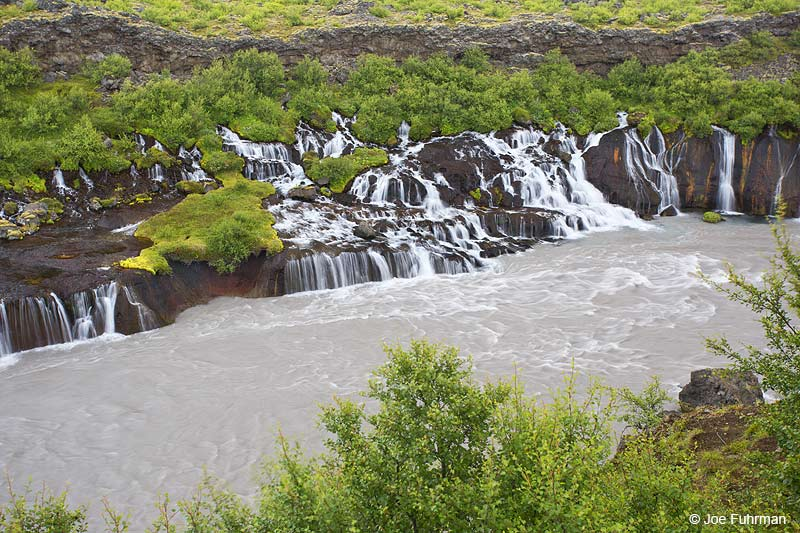 Hraunfossar Waterfalls Iceland   July 2013