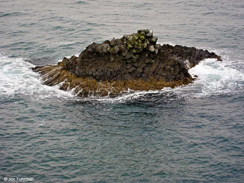 Old eroded sea stack Iceland   July 2013