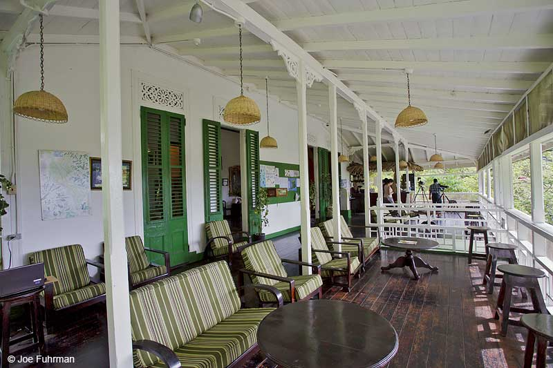 Asa Wright Nature Center-veranda Trinidad And Tobago Dec. 2012