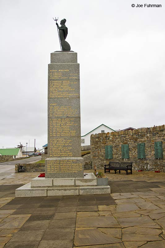 Memorial to 1982 War Stanley, Falkland Islands Nov. 2010