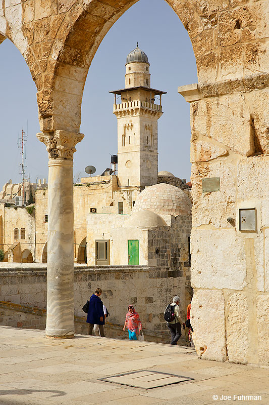 Old City-mosque by Dome of the RockJerusalem, Israel April 2016